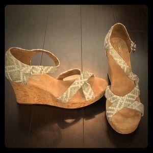 Brand New Toms Sienna Wedge Sandals